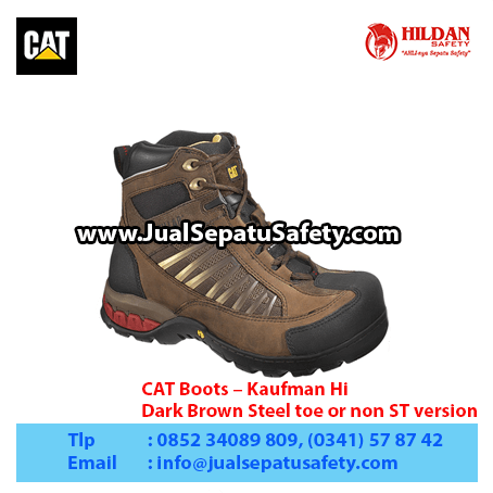 CAT Boots – Kaufman Hi – Dark Brown Steel toe or non ST version1