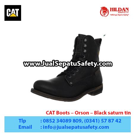 CAT Boots – Orson – Black saturn tin