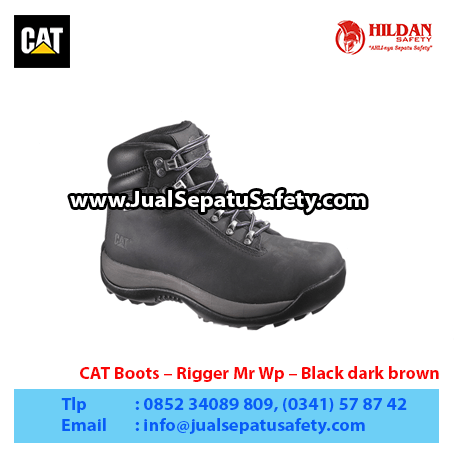 CAT Boots – Rigger Mr Wp – Black dark brown