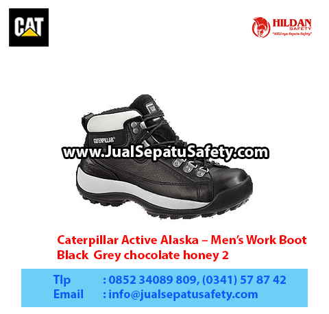 Caterpillar Active Alaska – Men's Work Boot – Black Grey chocolate honey 21