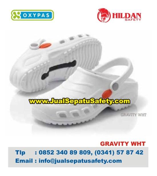OXYPAS GRAFITY WHT, Sepatu Perawat Medis Pria Wanita