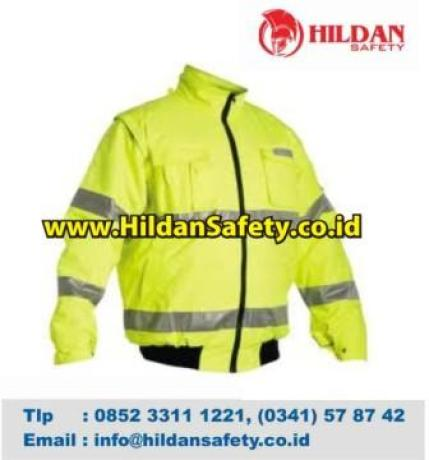 JS.001, Jaket Safety Hijau Scotlight Silver