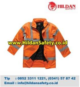 JS.005, Jaket Safety Orange Scotlight Silver Gelap