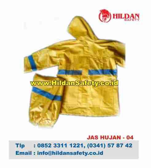 RC.004, Rain Coat Safety Kuning Garis Biru