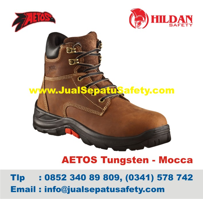 Sepatu Safety Shoes AETOS TUNGSTEN 813118 MoccA