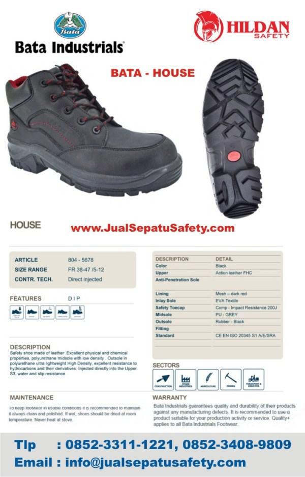 Toko Sepatu Safety Shoes Kulit Pria BATA HOUSE