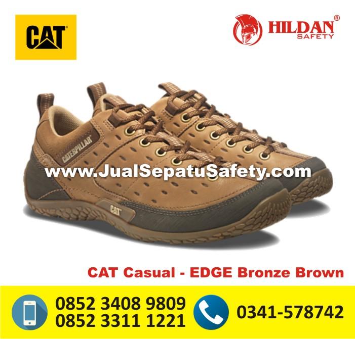 Harga Sepatu Caterpillar ASLI MAKASSAR-CAT Casual EDGE Bronze Brown