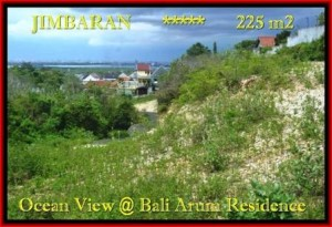 TANAH JUAL MURAH JIMBARAN 225 m2 View laut toll Lingkungan villa