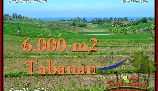 JUAL TANAH MURAH di TABANAN BALI 6,000 m2 View Laut, Gunung dan sawah