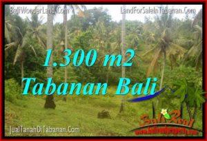 JUAL TANAH MURAH di TABANAN BALI 1,300 m2 View laut dan sawah