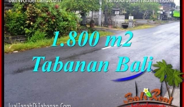 TANAH di TABANAN JUAL MURAH 1,800 m2 View sawah