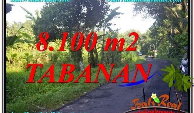 DIJUAL MURAH TANAH di TABANAN 81 Are di Tabanan Marga
