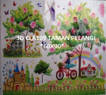 3d-cla109-taman-pelangi-wallsticker-ecer-grosir-untuk-dekor-kamar-ruang-tamu-kamar-bayi-085776500991-bu-eva