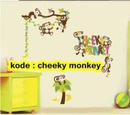 Cheeky Monkey Wallsticker ecer, grosir untuk dekor kamar, ruang tamu. 085776500991-bu Eva