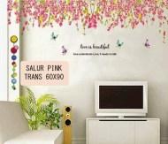 SALUR PINK Wallsticker Murah, ecer dan grosir untuk kamar, ruang tamu, dapur, kamar bayi.Bu Eva 0857.7650.0991