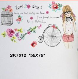 SK7012 Wallsticker ecer, grosir untuk dekor kamar, ruang tamu, kamar bayi. 085776500991-bu Eva