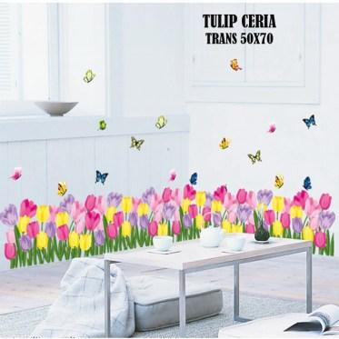 Tulip Ceria ay7188 Wallsticker ecer, grosir untuk dekor kamar, ruang tamu, kamar bayi. 085776500991-bu Eva