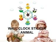 ANIMAL CD-859 Jam Wallsticker lucu dan unik 085776500991