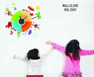 CD855 holiday Jam Wallsticker lucu dan unik 085776500991