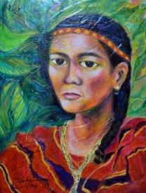 """Gwardya"" by Julie Po | Mixed-Media 18x24"