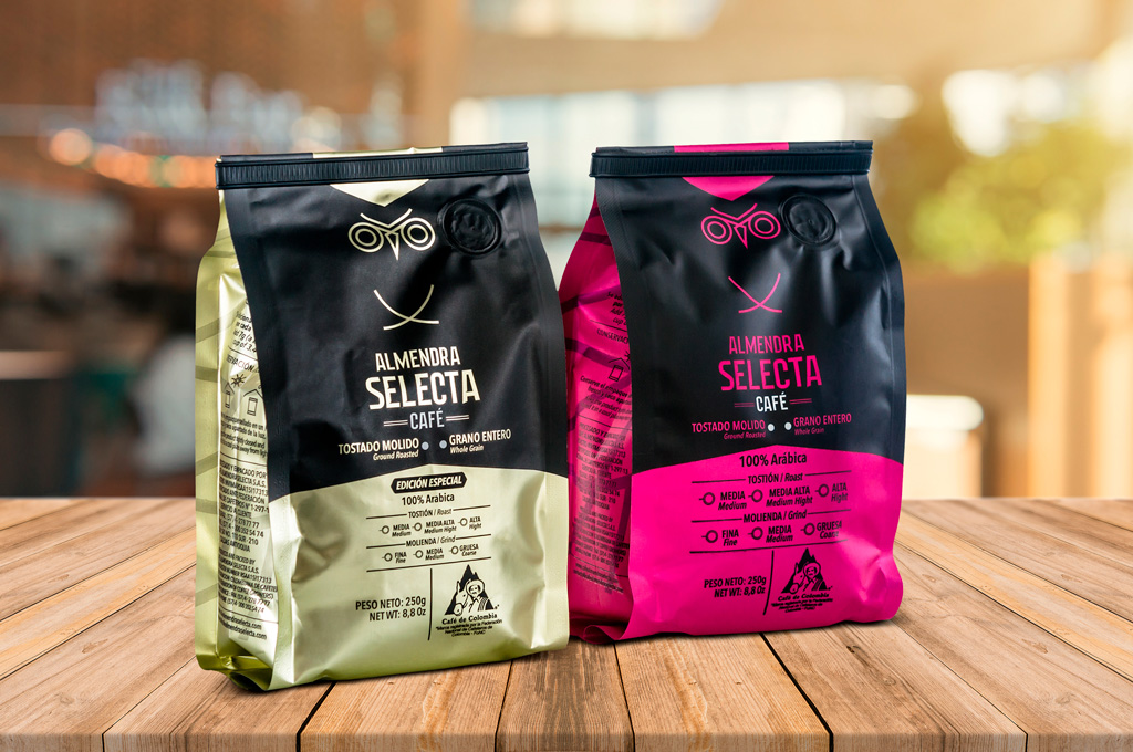 fotografía de producto, café almendra selecta