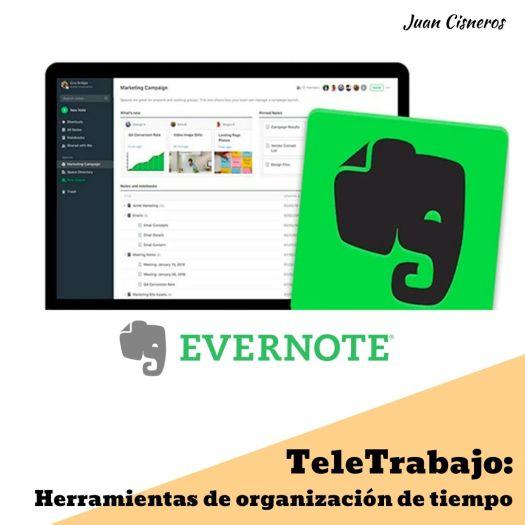 TeleWork: 5 herramientas gratis necesarias en el trabajo remoto Evernote