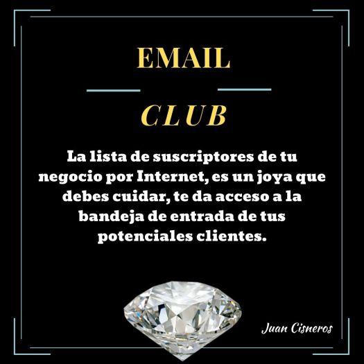 El club exclusivo, el email club de la lista de suscripción