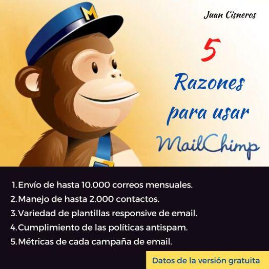 5 razones para usar Mailchimp