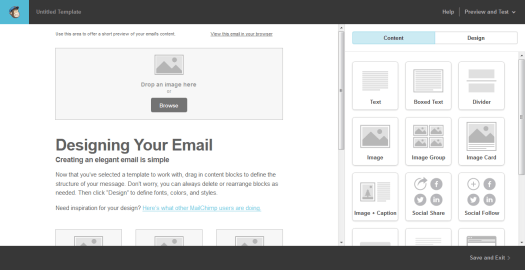Diseñando tu layouts en Mailchimp