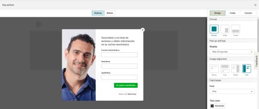 Mailchimp crear lista de suscriptores para WordPress