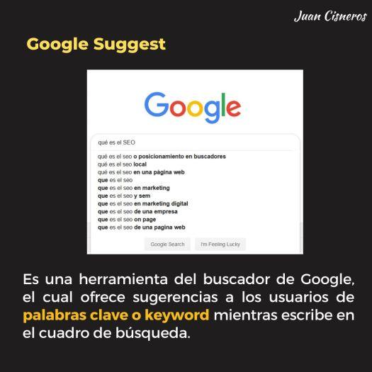 3 herramientas poderosas de Google para encontrar nichos de mercado - Google Suggest