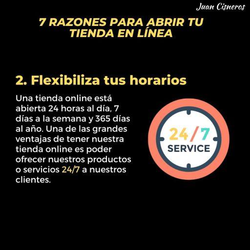 tienda online flexibiliza tus horarios