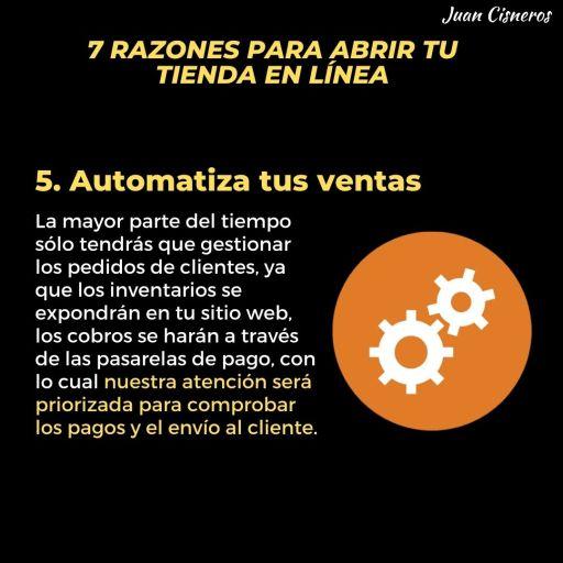 automatiza tus ventas online
