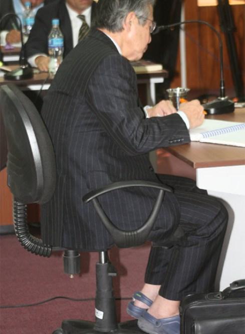 """Alberto Fujimori con calzado """"fresquito"""""""