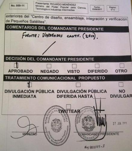 """Este documento no se """"Twitea"""", dice Chávez."""