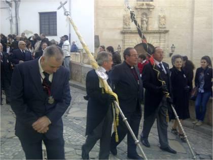 El guión es, también, el lugar en el que quedan representadas las autoridades y los invitados de honor de las cofradías