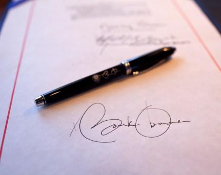 Firma de Barack Obama
