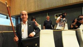 Garitano en su toma de posesión como Diputado General de Guipúzcoa