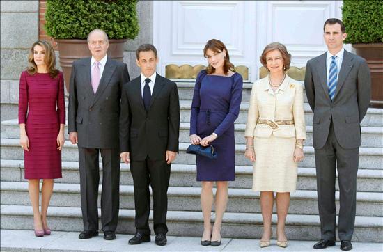 Los-Reyes-ofrecen-un-almuerzo-al-Presidente-Sarkozy-en-el-Palacio-de-La-Zarzuela. Foto EFE.