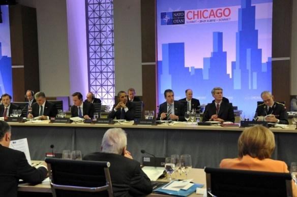 Cena de trabajo de la OTAN en Chicago 2012.