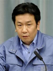 Yukio Edano después del terremoto