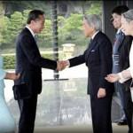 El Presidente Sur Coreano saluda a Akihito