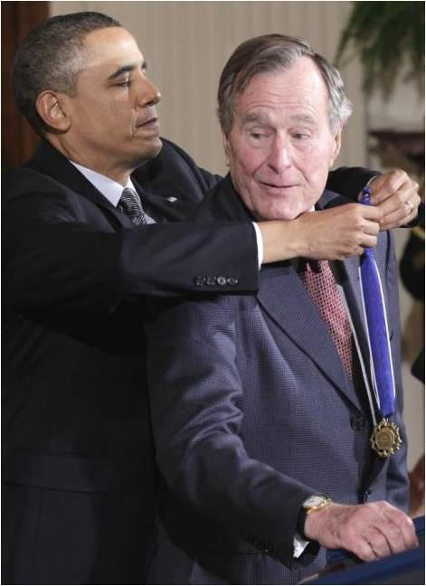 Imposición de la Medalla de la libertad a Bush.