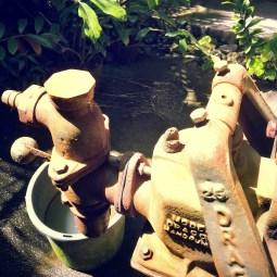 Spider web on water pump.