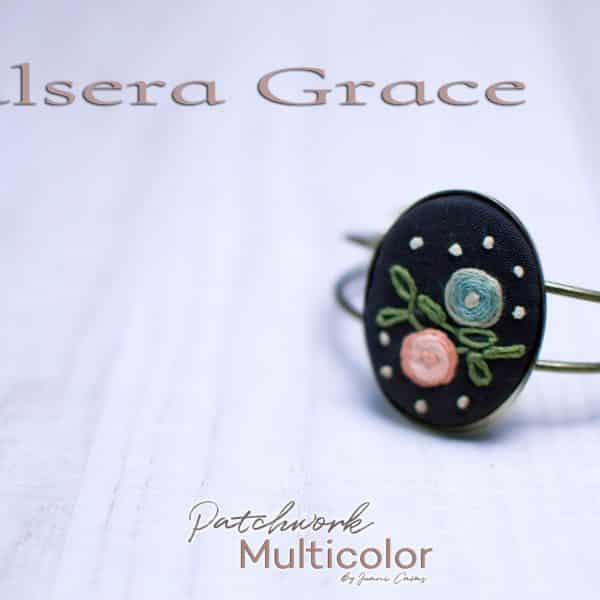 Pulsera bordada Grace Patchwork Multicolor