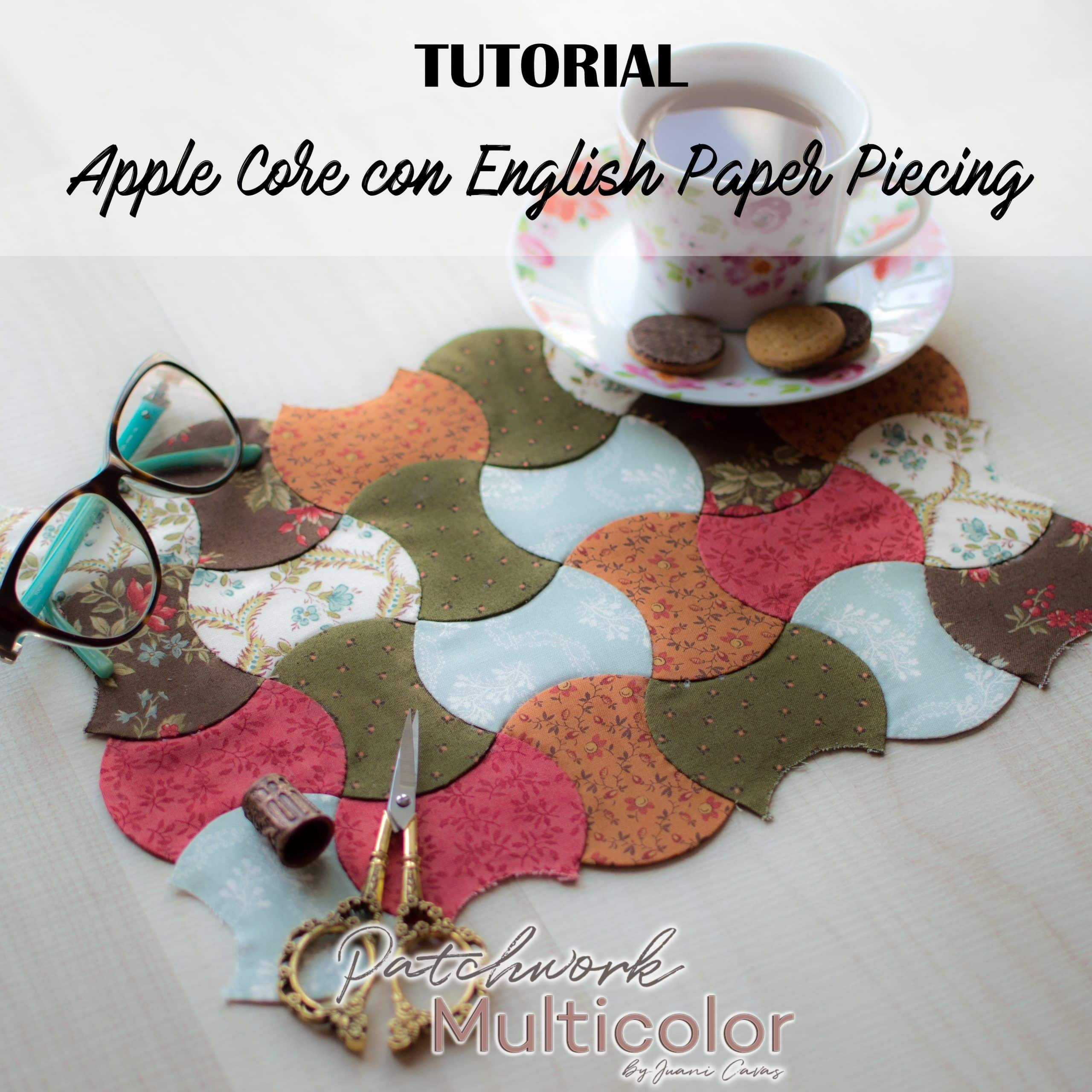 Tutorial Corazón de manzana o apple core en EPP english paper piecing