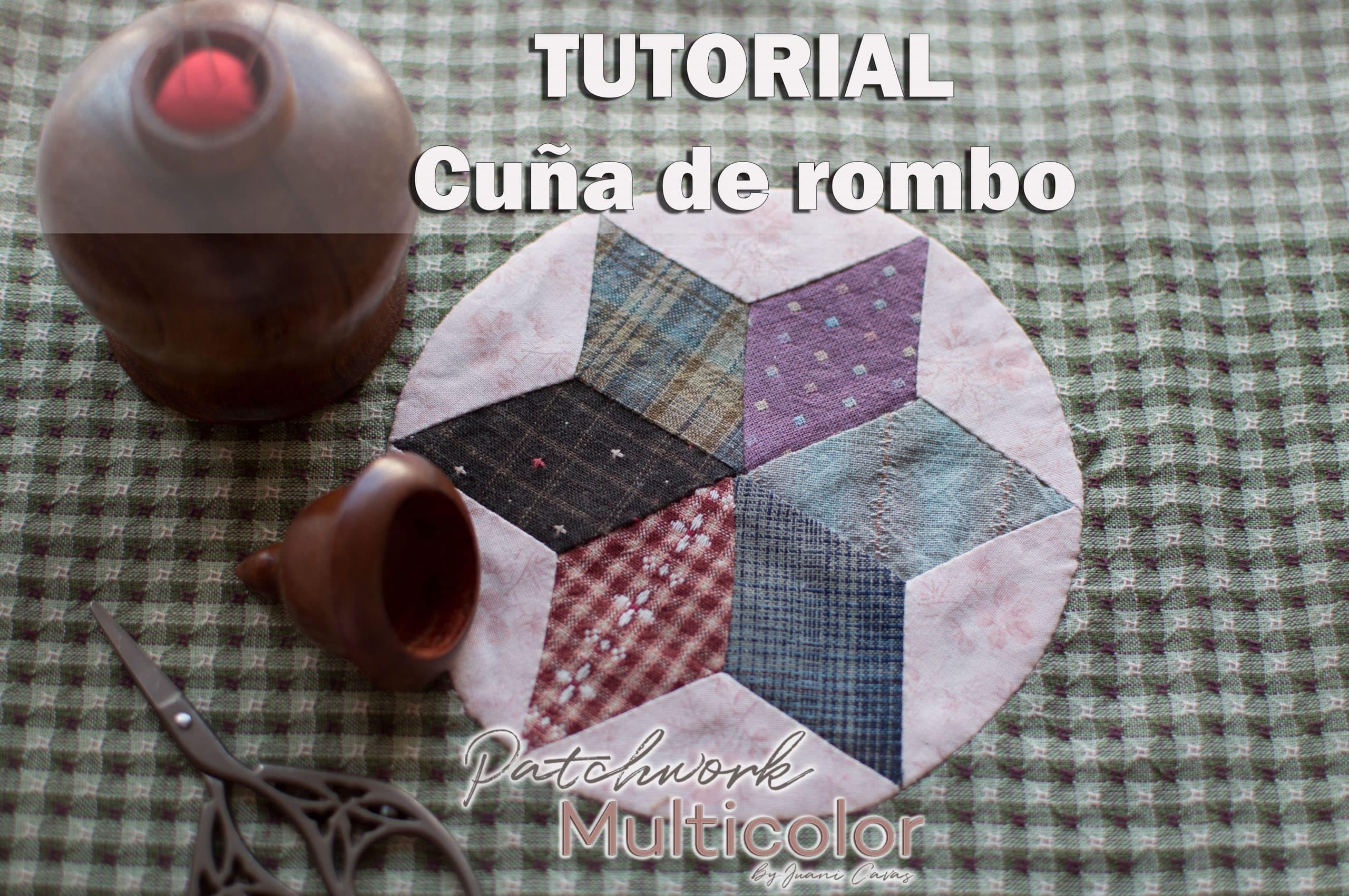 Tutorial Cuña de rombo de seis puntas six wedge edge circle