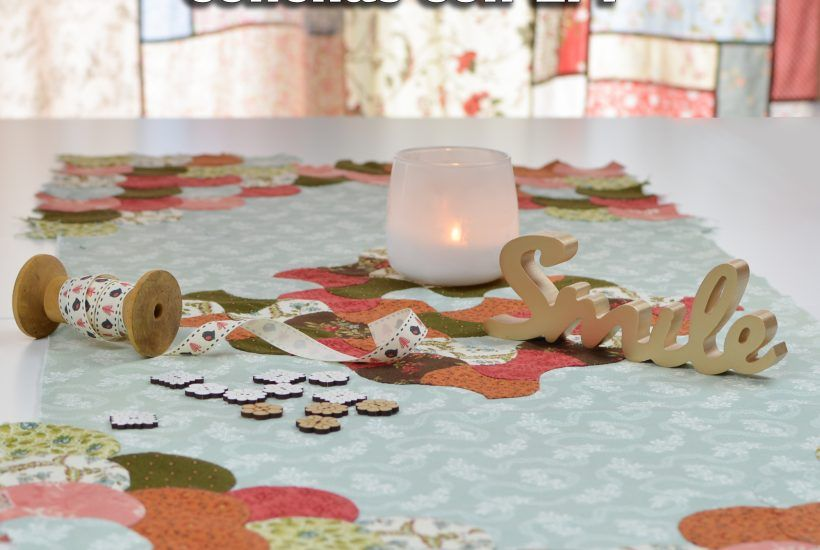 Tutorial Conchas o Clamshell con English Paper Piecing de patchwork