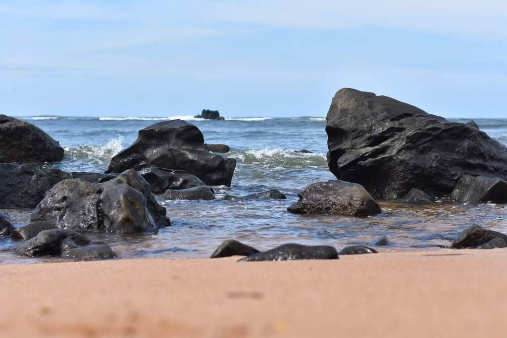 Vista de la playa los Cóbanos, Sonsonate