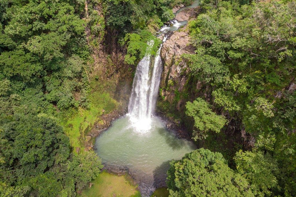 Cascada el Chorrerón de San Fernando, Morazán desde el cielo